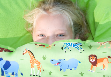 You'll find some really cute personalized sleeping bags for kids at Olive Kids!
